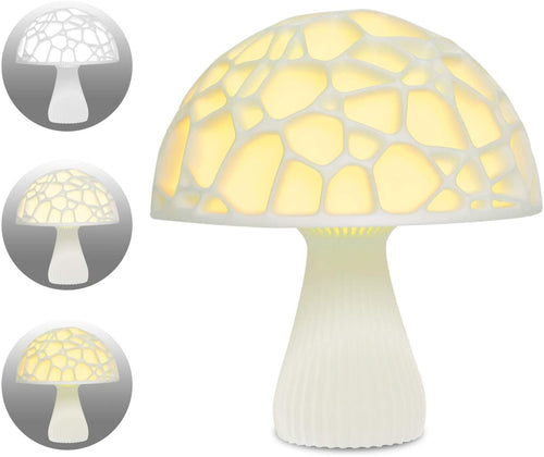 3D Printing Rechargeable Led Night Light Remote Control Changing Color Eye Caring LED Nursery Lamp, Low-wattage with 16 Color RGB for Bedroom and Party Decoration (Mushroom, 5.9 Inch)