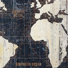 MasterPieces Old World Map Blue by Avery Tillmon Graphic Art on Wrapped Canvas Set, 3 Piece - zingydecor