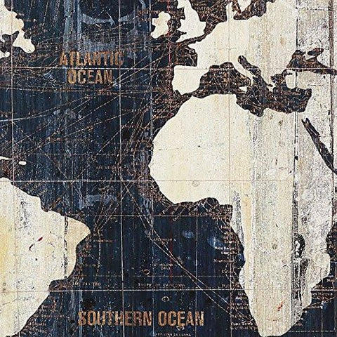 Masterpieces old world map blue by avery tillmon graphic art on masterpieces old world map blue by avery tillmon graphic art on wrapped canvas set 3 gumiabroncs Choice Image