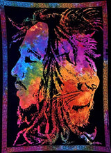 "Load image into Gallery viewer, ANJANIYA Bob Marley Lion Face Beautiful Bohemian Room Dorm Decor Hippie Small Boho Rasta Tapestry Poster 30""x40"" Psychedelic Reggae Tapestries Wall Art Hanging Gypsy Posters By (Multi Color) - zingydecor"