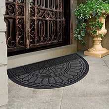 "Load image into Gallery viewer, Mibao Half Round Door Mat, Non-Slip Welcome Entrance Way Rug, Durable Low-Profile Easy to Clean Front Outdoor Heavy Duty Doormat, 24"" x 36"""