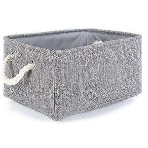 TheWarmHome Collapsible rectangular baskets for storage laundry basket with rope handles