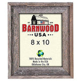 BarnwoodUSA Rustic 8x10 Inch Signature Picture Frame - 100% Reclaimed Wood, Weathered Gray