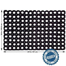 Load image into Gallery viewer, SafetyCare Heavy Duty Flexible Drainage Rubber Floor Mat – Anti-Fatigue Water Hog Comfort Mat - Restaurant & Bar Style - 24 x 16 Inches – 1 Pack - zingydecor