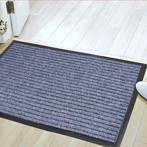 Jinwen 122668 Entrance Rug Floor Mats Washable Indoor/Outdoor Low Profile Doormat Shoe Scraper Doormat (31.5
