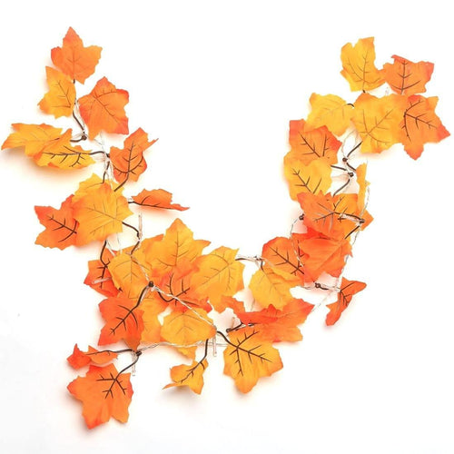 Thanksgiving Decorations Lighted Fall Garland, Thanksgiving Decor Halloween String Lights 8.2 Feet 20 LED, Thanksgiving Gift - zingydecor