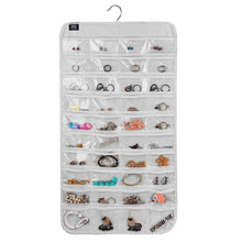 Load image into Gallery viewer, Hanging Jewelry Organizer,80 Pocket Organizer for Holding Jewelries(Beige) - zingydecor