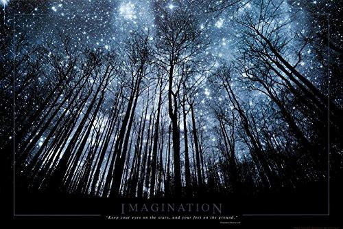 Imagination Keep Your Eyes on the Stars and Your Feet on the Ground Art Print Poster Poster Art Poster Print, 24x36