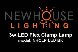 Newhouse Lighting 3W Energy-Efficient LED Clamp Lamp Light, Black