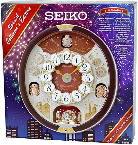 Seiko Special Collector's Edition Melodies in Motion Wall Clock with Swarovski Crystals - zingydecor