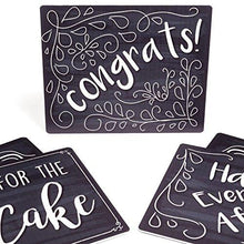 Load image into Gallery viewer, Wedding Photo Booth Sign Props - Set of 5 - Double Sided, Chalkboard Style Hard Plastic Prop Signs - zingydecor