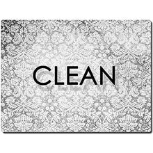 Load image into Gallery viewer, Clean Dirty Dishwasher Magnet - Flexible Reversible 3x4 inch Big size Flipside Black and White Simple Design Perfect Kitchen Addition Premium Flip Sign Indicator - zingydecor