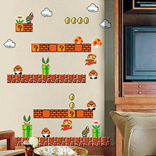 Load image into Gallery viewer, HomeEvolution Giant Super Mario Build a Scene Peel and Stick Wall Decals Stickers for Kids Boys... - zingydecor