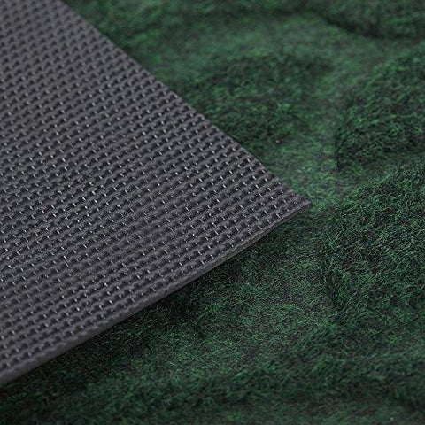 "Image of Outside Shoe Mat Rubber Doormat for Front Door 18""x 30"" Outdoor Mats Entrance Waterproof Rugs Dirt Debris Mud Trapper Carpet for Patio Non Skid Doormats all Weather Exterior Door Mat Green"