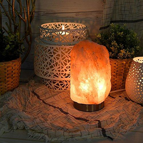 "Levoit Kyra Himalayan Salt Lamp, Natural Hymalain Pink Salt Rock Lamps(5-8 lbs,6.5-9"" ),Best Christmas Decorations & Gifts, Himilian Sea Salt Crystal Night Light with Touch Dimmer Switch,3 Bulbs"