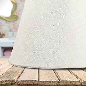 Lamp Shade IMISI Linen Fabric White Lamp Shade Small 7 x 5.3 x 9.3 inch (White)