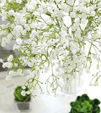 "9pcs Artificial Flowers 21"" Gypsophila Baby Breath Bouquets Silica Gel for Wedding Home DIY Decor White"