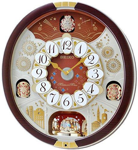 Image of Seiko Special Collector's Edition Melodies in Motion Wall Clock with Swarovski Crystals - zingydecor