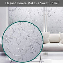 Load image into Gallery viewer, Mikomer Privacy Window Film Wheat Flower Static Cling Glass Door Film, Non Adhesive Heat Control Anti UV Window Cling for Office and Home Decoration,17.5 inches by 78.7 inches - zingydecor