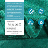 "HYSEAS Velvet Plush Throw, Home Fleece Throw Blanket, 50"" x 60"", Teal"