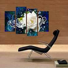 Flower Picture Canvas Oil Painting Wall Art Prints Home and Office Decor (12x16inchx2pcs, 12x24inchx2pcs) - zingydecor