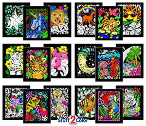 Super Pack of 18 Fuzzy Velvet 8x10 Inch Posters (Artistic Edition) - zingydecor
