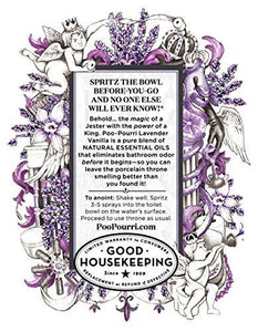 Poo-Pourri Before-You-Go Toilet Spray 2-Ounce Bottle, Lavender Vanilla Scent - zingydecor