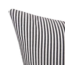 Load image into Gallery viewer, Merrycolor Farmhouse Decorative Throw Pillow Covers for Couch Sofa Stripe Faux Leather Accent Pillow Cover Modern Decor Pillow Case 18 x 18 Inch(Black)