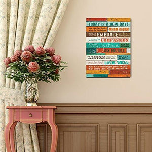 The Barn Today Is A New Day Marla Rae Wood Wall Art Panel, 12 x 18-Inch - zingydecor