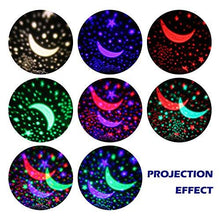 NEW GENERATION Baby Night Lights for kids, AnanBros Starry Night Light Rotating Moon Stars... - zingydecor