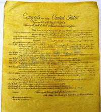 Declaration of Independence 23 X 29, Constitution of the U.S. 23 X 29, Bill of Rights 23 X 29 Posters Shipped in Mailing Tube
