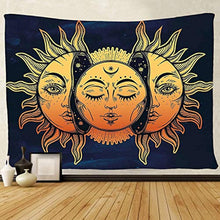 Load image into Gallery viewer, Tapestry Wall Hanging, sun and moon Psychedelic small Wall Tapestry with Art chakra Home Decorations for Bedroom Dorm Decor in 51x60 Inches - zingydecor