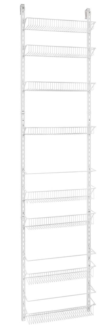 ClosetMaid 1233 Adjustable 8-Tier Wall and Door Rack, 18-Inch - zingydecor