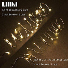 [10-PACK] LED String Lights, 3.5FT LED Moon Lights 20 Led Micro Lights On Silver Copper Wire (Batteries Include) For DIY Wedding Centerpiece, Table Decoration, Party (warm white) - zingydecor