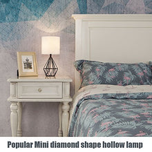 Load image into Gallery viewer, Gold Modern Hollow Out Base Living Room Bedroom Small Table Lamp,Bedside Lamp with Metal Base and White Fabric Shade