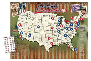 Ballpark Travel Quest Poster Set - zingydecor