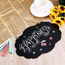 Load image into Gallery viewer, ULTNICE Chalkboard Sign Double-Sided Message Board with Hanging String - 2 Pack