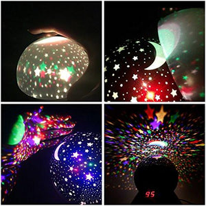 Star Sky Night Lamp, ANTEQI Baby Lights 360 Degree Romantic Room Rotating Cosmos Star Projector... - zingydecor