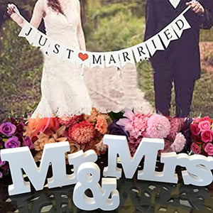 Buytra Wedding Decorations Set with Just Married Wedding Banner Mr Mrs Signs Letters for Sweetheart... - zingydecor