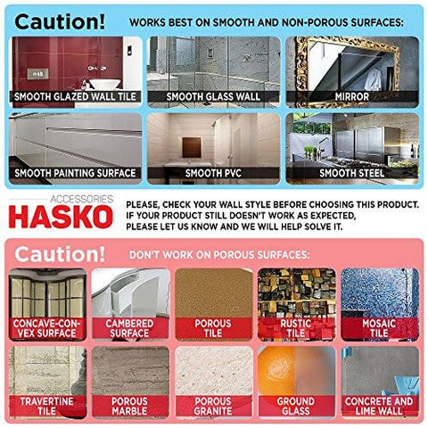 Image of HASKO accessories - Super Powerful Vacuum Suction Cup Hook Holder - Organizer for Towel, Bathrobe and Loofah, Chrome