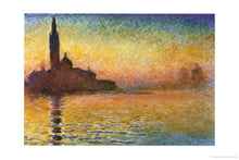 Load image into Gallery viewer, Claude Monet (Dusk in Venice) Art Poster Print - 24x36 Poster Print, 36x24 - zingydecor