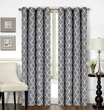Load image into Gallery viewer, Printed Blackout Room Darkening Grommet Curtain - Window Panel Drapes 1 Panel, 52 inches wide by 84 inches long - Decorative Curtains by Utopia Bedding - zingydecor