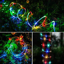 Load image into Gallery viewer, Bebrant LED Rope Lights Battery Operated String Lights-40Ft 120 LEDs 8 Modes Outdoor Waterproof Fairy Lights Dimmable/Timer with Remote for Garden Camping Party Decoration (Multi-Color) - zingydecor