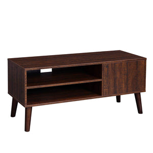 Retro TV Stand, TV Console, Mid-Century Modern Entertainment Center for Flat Screen TV Cable Box Gaming Consoles, in Living Room Entertainment Room Office - zingydecor