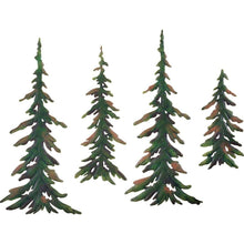 Load image into Gallery viewer, Evergreen Pine Tree Metal Wall Decor Set - zingydecor