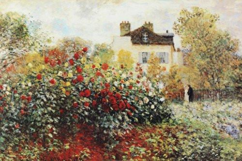 The Artist's Garden by Claude Monet 36x24 Art Print Poster - zingydecor