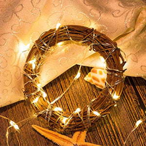 Pack of 6 LED Moon Starry String Lights with 20 Micro LEDs on 5feet/1.5m Silver Coated Copper Wire, 2 x CR2032 Battery Power(Included), for DIY Wedding Centerpiece or Table Decorations (Warm White) - zingydecor