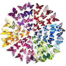 Load image into Gallery viewer, 72 x PCS 3D Colorful Butterfly Wall Stickers DIY Art Decor Crafts For Nursery Classroom Offices Kids Bedroom Bathroom Living Room Magnets And Glue - zingydecor