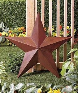 1 X 36 Rustic Dimensional Barn Star - Brown - zingydecor