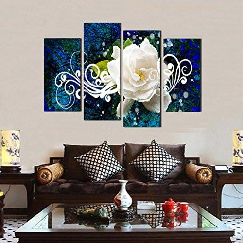 Flower Picture Canvas Oil Painting Wall Art Prints Home and Office Decor (12x16inchx2pcs, 12x24inchx2pcs)